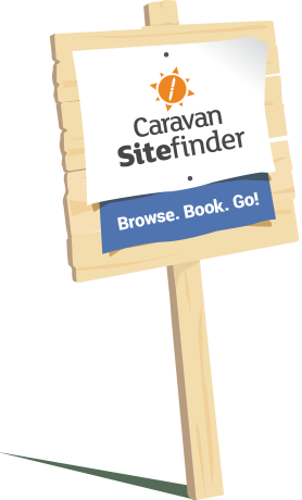 Caravan Sitefinder - Browse. Book. Go! graphic