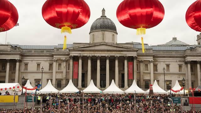 Trafalgar Square is the venue for free Chinese New Year entertainment. Photo VisitLondon.com