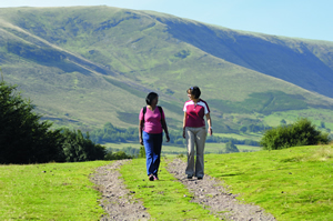 photo of Adèle Donaghie and her mum in The Brecon Beacons, Wales